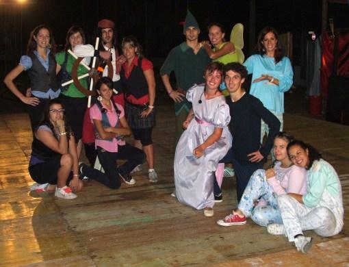 Gruppo animatori in Peter Pan dell'anno scorso